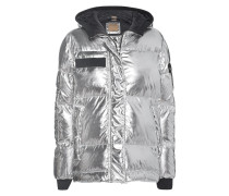 Daunen-Jacke im Metallic-Look  // Boyfriend Down Silver Metallic