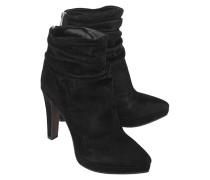 Veloursleder-Stiletto-Booties  // Charles Drive Black