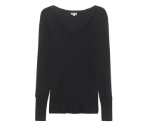 Modal-Baumwoll-Mix-Longsleeve  // Vneck Long Black