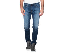 Schmale Jeans im Washed-Out-Look  // The Tellis 10 Years Short Cut