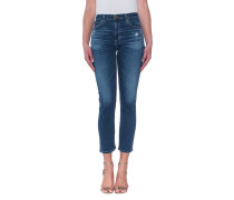 Gerade High-Rise Jeans  // The Isabelle Straight Crop 8 Years Infamy