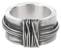Sterling-Silber Ring  // Tape Silver