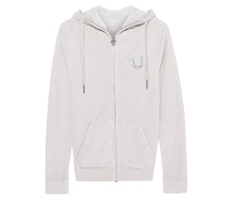 Hooded Zip Jacket Horseshoe Silver Grey