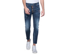 Slim-Fit Jeans mit Stickereien
