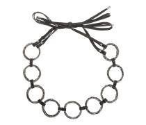 Leder-Metall-Taillengürtel  // Ceinture Anneaux Black