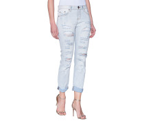 Destroyed Straight-fit Jeans  // Awesome Blue