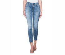 Washed-Out Skinny-Jeans  // Baker Blue