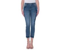 Jeans mit Blumen-Stickerei  // Flower Emboidery Vintage Denim