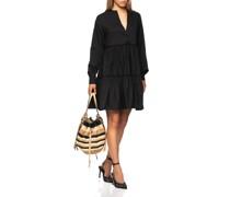 Ausgestelltes Volant-Kleid