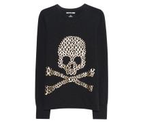 Baumwoll-Sweatshirt mit Print  // Skull Black