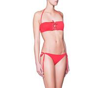 Bandeau Bikini mit Schnürung  // Jordan Red