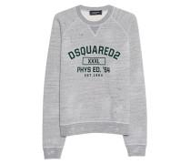 Baumwoll-Sweater mit Logo-Emblem  // XXXL Heather Grey