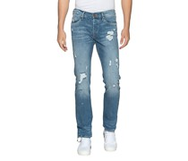 Destroyed Relaxed Skinny-Jeans