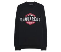 Baumwoll-Sweater mit Label-Schriftzug  // Mountaineer Black