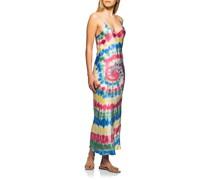 Seiden-Mix Trägerkleid im Batik-Design
