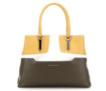 Hosaka Handtasche braun/gelb