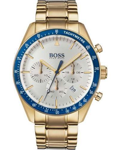 Trophy Chronograph gold/blau