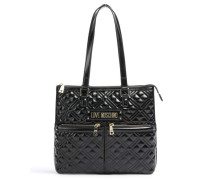 New Shiny Quilted Shopper schwarz