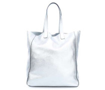 Calf Shimmer Shopper silber