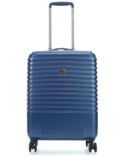 Delsey Damen Caumartin Plus 4-Rollen Trolley blau 55 cm