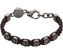 Armband braun/silber