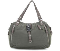 Nylon Cotton Candy Handtasche olivgrün