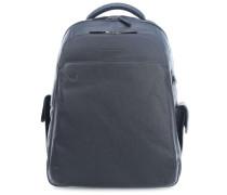 Black Square Laptop-Rucksack 15″ blau