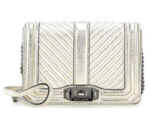 Chevron Quilted Small Love Schultertasche gold