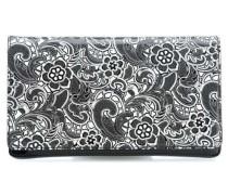 Vernice Laserata Clutch schwarz/weiß