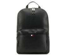 Business Leather Rucksack schwarz