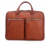 Sartoria M 14'' Aktentasche mit Laptopfach cognac