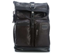 Alpha Bravo Leather Luke Roll 15'' Laptop-Rucksack schwarz