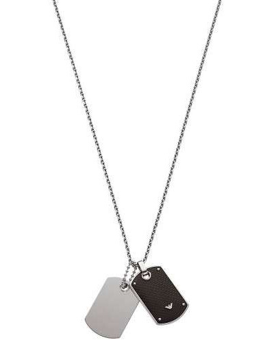 Signature Halskette silber/schwarz