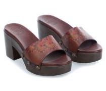 Clog 38 Schuhe dunkelbraun