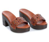 Clog 36 Schuhe cognac