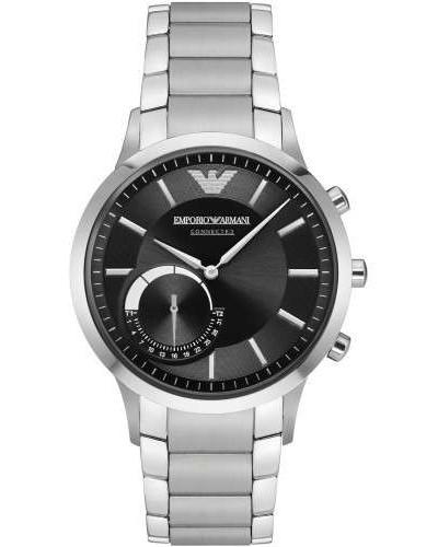 Connected Hybrid-Smartwatch silber/schwarz