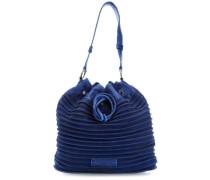 Vintage Velvet Beuteltasche blau