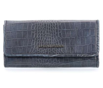Wallet Croco Big Geldbörse Damen petrol