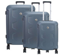 PC Hardside Set Trolley-Set blau