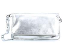 Metall Aloe7V Clutch silber