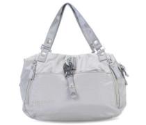 Nylon Cotton Candy Handtasche hellgrau
