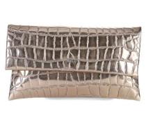 Croco Metallico Cadea Clutch gold
