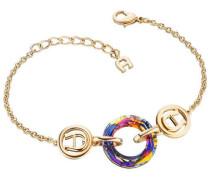Fashion Colour Rings Armband gold