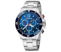 Seaforce Chrono Chronograph silber