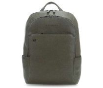 Black Square Laptop-Rucksack 14″ olivgrün