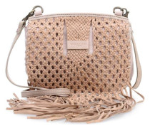Woven Adelaide Schultertasche light powder