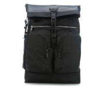 Alpha Bravo London Roll-Top 15'' Rucksack schwarz