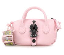 Leather Bargld Schultertasche rosa