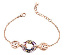 Fashion Colour Rings Armband roségold