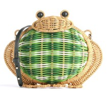 Wicker Frog Schultertasche